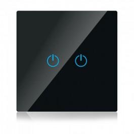 WIFI SMART Touch Ключ Сериен Черен Съвместим с Amazon Alexa & Google Home