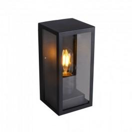 Стенна Лампа 1*27 Черна Прозрачна