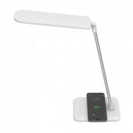 7W LED Настолна Лампа Безжично зареждане 3 в 1 Бяла