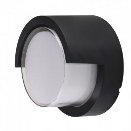 12W LED Стенна Лампа 3000К Черна Кръгла Полу Периферия