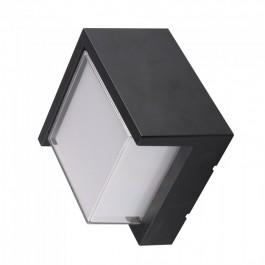 12W LED Стенна Лампа 3000К Черна Квадрат