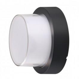 12W LED Стенна Лампа 4000К Черна Кръг