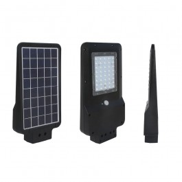 15W Улична Лампа Соларна Черна 6000К