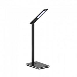 5W Настолна Лампа 3в1 Безжично Зареждане GSM Черна Правоъгълна Основа