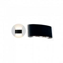 6W Стенна Лампа Пясъчно Черно Тяло 4000К IP54