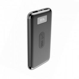 Външна Батерия  Дисплей Безжично Зареждане 10000mAh Черна