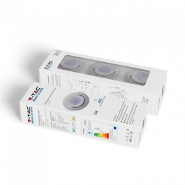 LED Крушка GU10 с Корпус Бяло Тяло 6400K 3 бр./опаковка