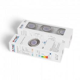 LED Крушка - 5W GU10 с Корпус Сатен Никел 6400К 3бр/сет
