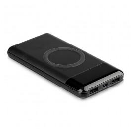 Външна Батерия Безжично Зареждане USB C+B 10К Mah Черна