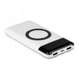 Външна Батерия Безжично Зареждане USB C+B 10К Mah Бяла