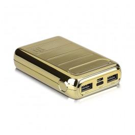 Външна Батерия Златна USB C+B 10K Mah Златна
