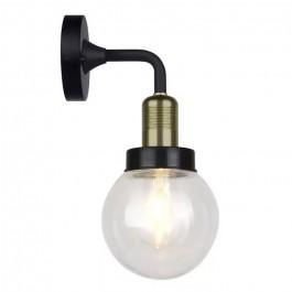 Стенна Лампа GLO E27 IP65 Ф150 Черна