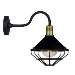 Стенна Лампа GLO E27 IP65 Ф250 Черна