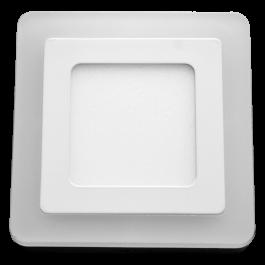 6W+2W LED Панел Външен монтаж - Квадрат, топло бяла светлина