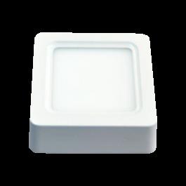8W LED Панел Външен монтаж - Квадрат топло бяла светлина