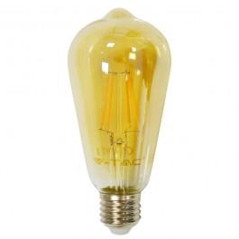 LED Тип Крушка - 4W Винтидж E27 Топло бяла светлина, Димираща