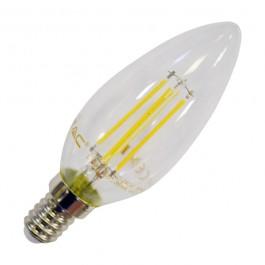 LED Тип Свещ Крушка - 4W Винтидж E14 Студено бяла светлина