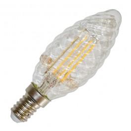 LED Крушка - 4W Винтидж E14 Свещ спирала Топло бяла светлина Димираща