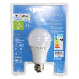 LED Крушка - 12W E27 A60 Термо Пластик Топло бяло Blister Pack