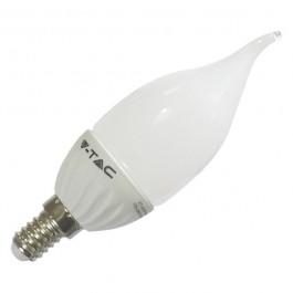 LED Тип Свещ Крушка - 4W  E14 Бяла светлина