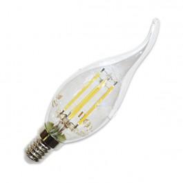 LED Крушка - 4W Винтидж E14 Свещ пламък Топло бяла светлина Димираща