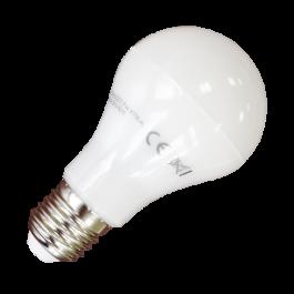 LED Крушка - 7W E27 A60 Термопластик, топло бяла светлина