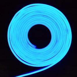 LED Неон Флекс 2835 - 120 LED, Синя светлина, влагозащитена - 10 метра