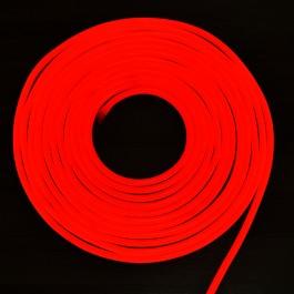 LED Неон Флекс 2835 - 120 LED, Червена светлина, влагозащитена - 10 метра