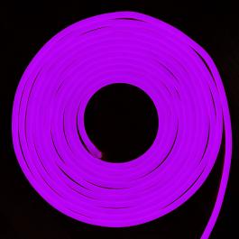 LED Неон Флекс 24V Виолетова светлина, влагозащитена - 10 метра