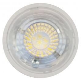 LED Крушка - 7W GU10 Пластик с Лупа Бяла Светлина  Димираща
