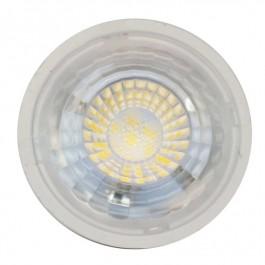 LED Крушка - 7W GU10 Пластик с Лупа Топло бяла светлина Димираща