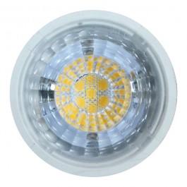 LED Крушка - 7W MR16 Plastic  12V, топло бяла светлина