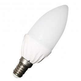 LED Крушка тип свещ - 3W E14 бяла светлина