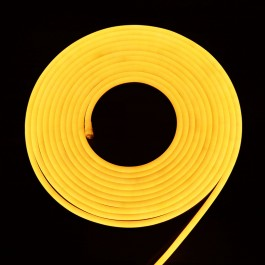 LED Неон Флекс 2835 - 120 LED, Топло бяла светлина, влагозащитена - 10 метра