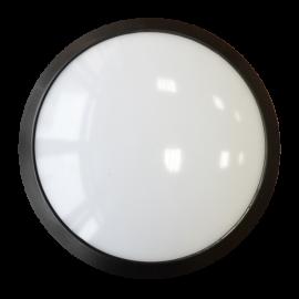 12W Плафониера Dome Черно тяло - Овал, 4500K