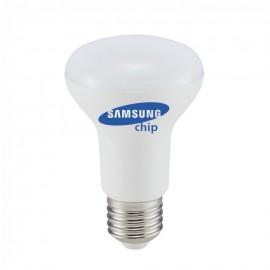 LED Крушка - SAMSUNG ЧИП 8W E27 R63 Бяла Светлина