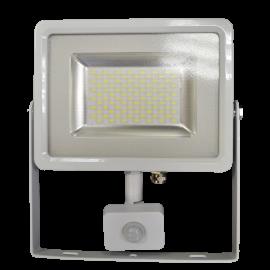 50W LED Прожектор Сензор Бяло тяло SMD - Неутрално бяла светлина