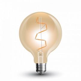 LED Крушка - 4W Винтидж E27 G95 Amber, Топло бяла светлина