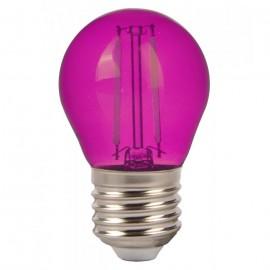 LED Крушка - 4W Filament E27 G45 Розов Цвят
