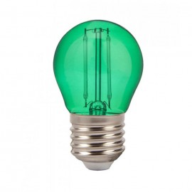 LED Крушка - 4W Filament E27 G45 Зелен Цвят