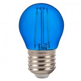 LED Крушка - 4W Filament E27 G45 Син Цвят