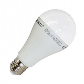 LED Крушка - 17W E27 A65 Термо Пластик бяла Светлина