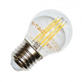 LED Крушка - 4W Винтидж E27 G45 Топло бяло