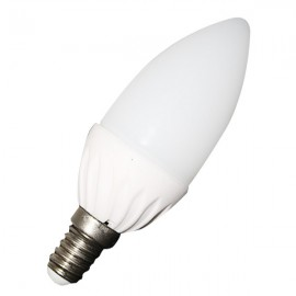 LED Крушка - 4W E14, тип свещ, неутрално бяла светлина