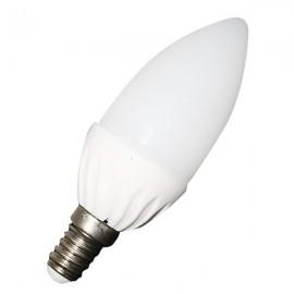 LED Крушка - 4W E14 Тип Свещ Топло бяла светлина